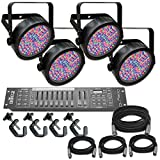 Chauvet Slim Par 56 x 4 Complete Lighting System Stage Lighting Package