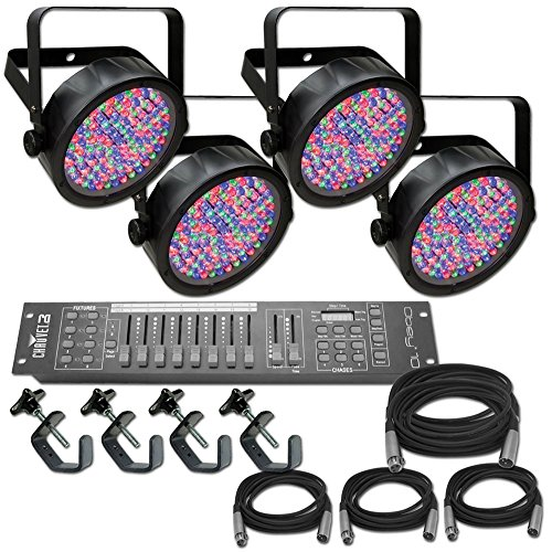 Chauvet Slim Par 56 x 4 Complete Lighting System Stage Lighting Package  sc 1 st  Amazon.com & Stage Lighting Packages: Amazon.com azcodes.com
