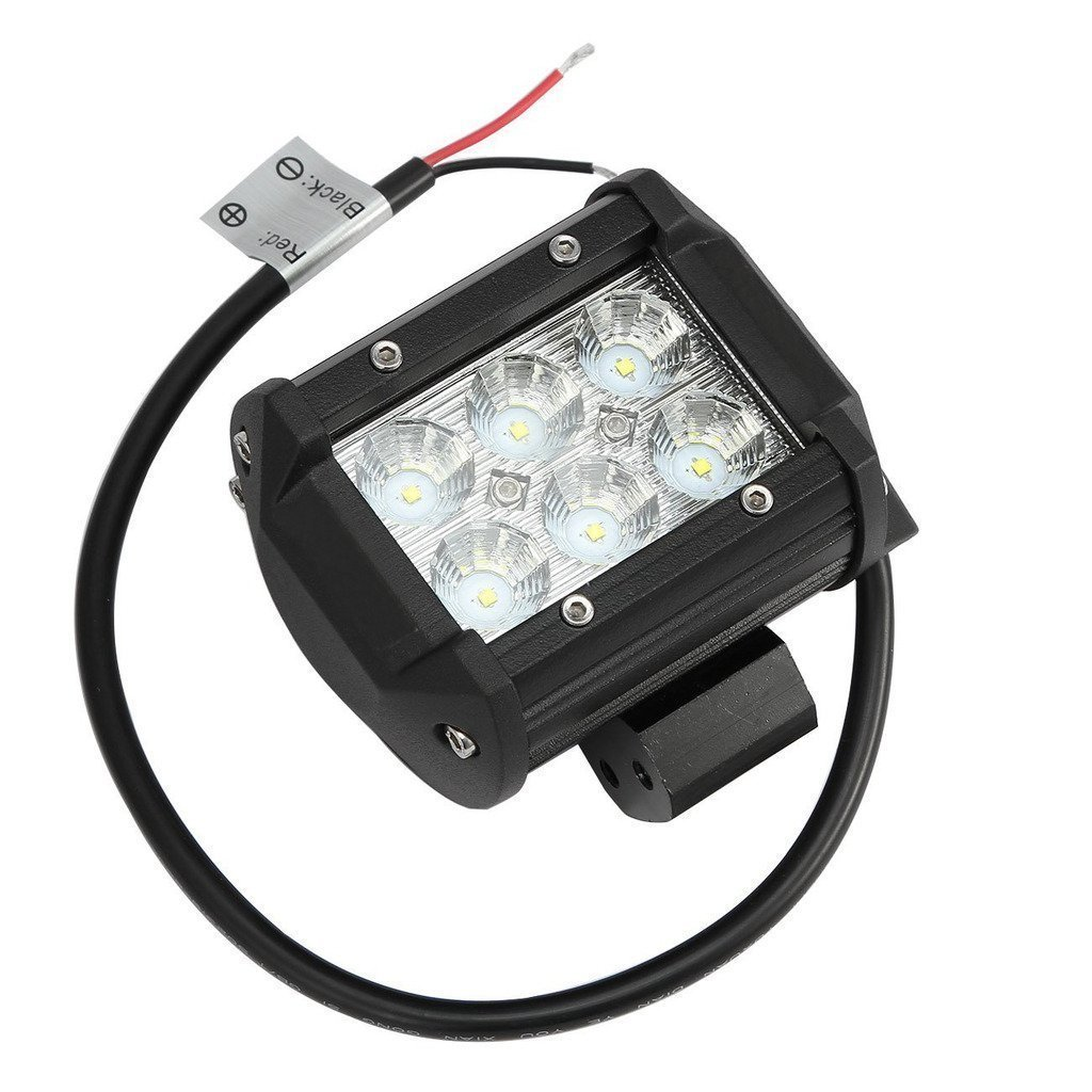 Simplive/® 4/×18W 1260LM CREE Flood Led Work Light Bar For Off-road SUV Boat 4x4 Jeep Lamp with Mounting Bracket