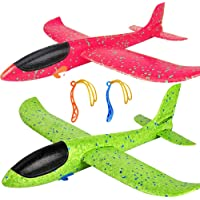 Cool Flying Toys for Kids TVP Flying Airplane Toys Good for Remove Bad Habit of Mobile 1-Pack 19 Large Gilded Foam Plane Excellent Gift for 3+ Year Childrens Yellow