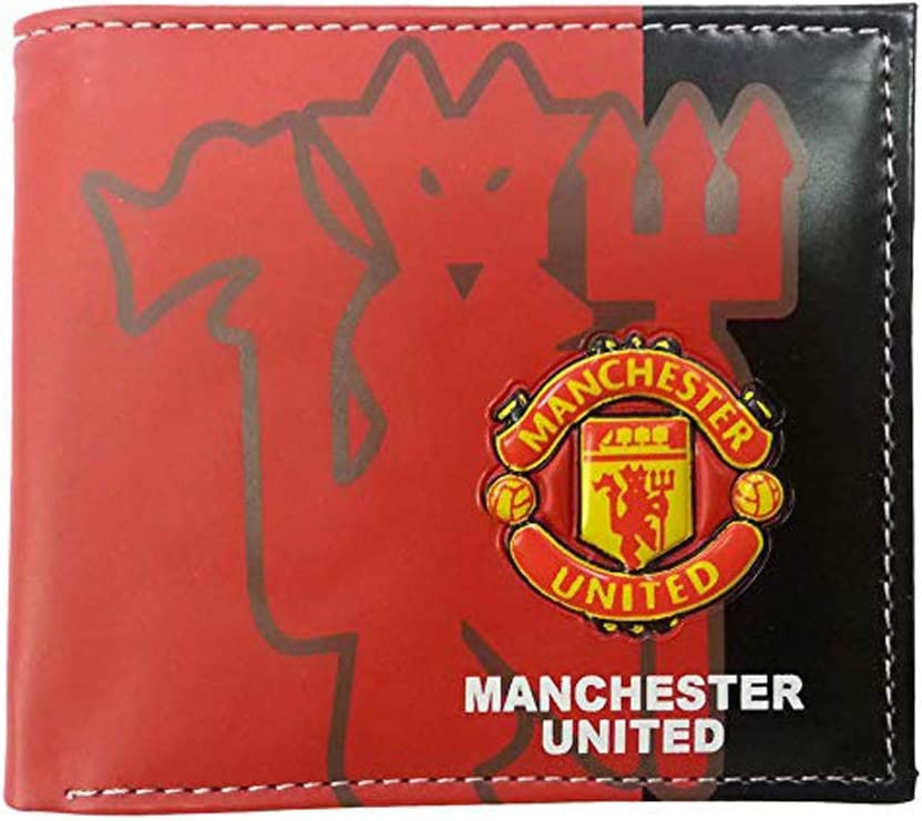 Football Club Wallet Soccer Team Logo Printed Wallet Unisex PU Leather Wallets for Football Fans Arsenal, 4.33 X 3.54
