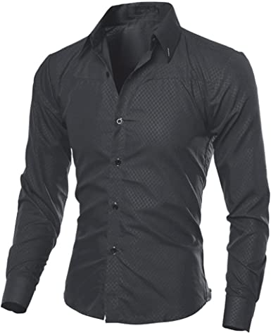OTW Men Button Down Basic Cotton Outdoor Chest Pocket Dress Shirts