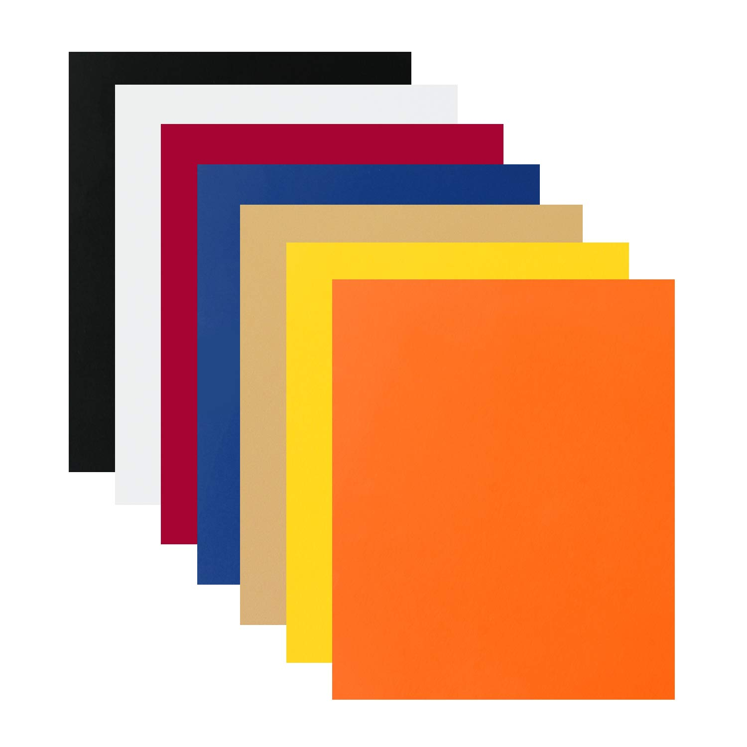 7 Sheets Flock Heat Transfer Vinyl Iron On T-Shirts 7 Assorted Colors HTV 12x10' by 7 for DIY Garment VINYL FROG