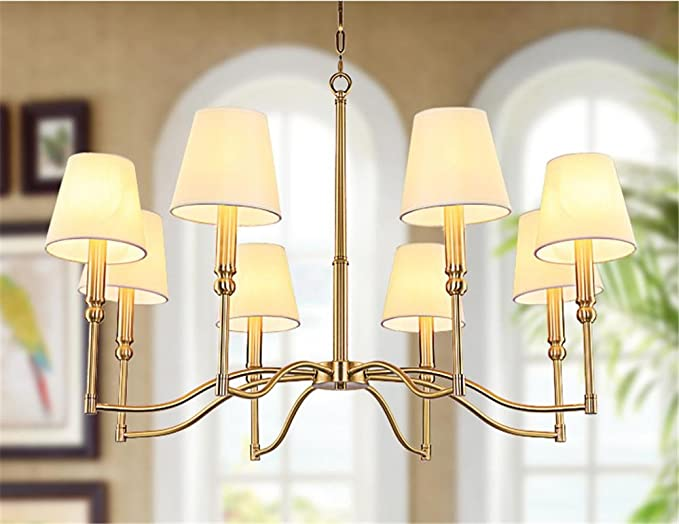 Lampada europea lampadario lampada di rame soggiorno lampadario