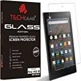"TECHGEAR® Amazon Fire HD 8"" Tablet GLASS Edition Genuine Tempered Glass Screen Protector Guard Cover (for NEW 2017, 2016 & 2015 Fire HD 8)"