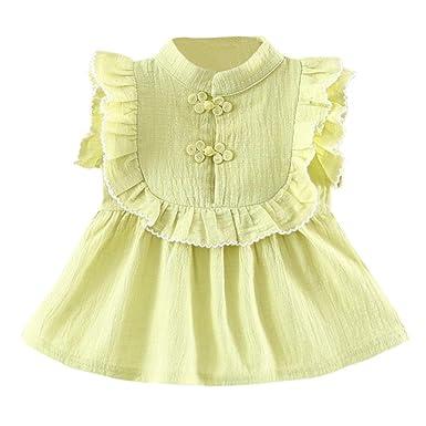 74471474a505 Lolittas Cute Baby Dress First Size,0-2 Years Lovely Button Falbala Ruffles  Sundress, Summer Sleeveless Toddler Kids Ruffle Swing Birthday Beach  Pageant ...