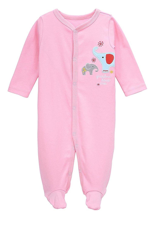 MIMY Newborn Baby Rompers Boys Girl Organic Sleeper Footed Pajamas Sleep 'N Play