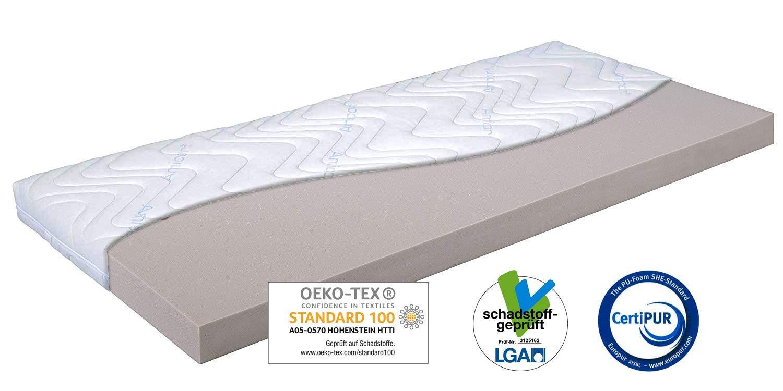 GUT-GEBETTET Topper Matratzenauflage RG 55 / 140x200x12cm, Amicor® Doppeltuchbezug, weiche Kaltschaum Auflage für optimales Schlaferlebnis, Allergikergeeignet, Öko-Tex100, Nicht vakuumiert