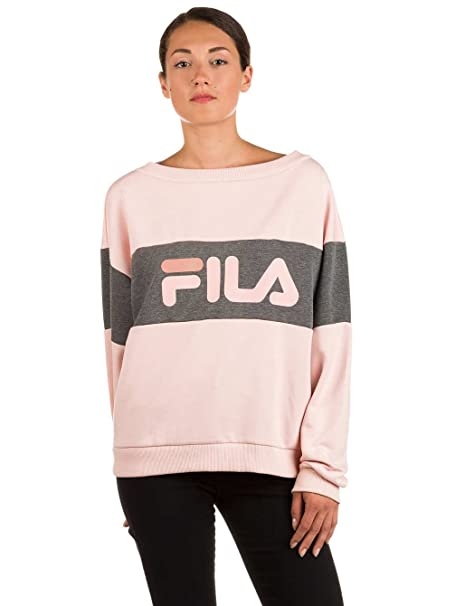 Fila Felpa Donna Elin 681838 Rosa L (ITA 46): Amazon.it ...