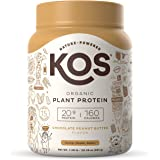 KOS Organic Plant Based Protein Powder – Raw Organic Vegan Protein Blend, 1.3 Pound, 15 Servings (Chocolate Peanut…
