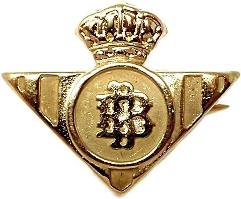 Pin alfiler oro 18k escudo Real Betis Balompié [422]: Amazon.es: Joyería