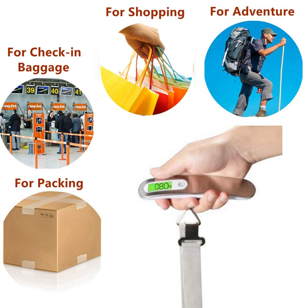 REALCERA Handheld Digital Luggage Scale And TSA Approved Luggage Combination Lock Travel Accessories Kits For Travel