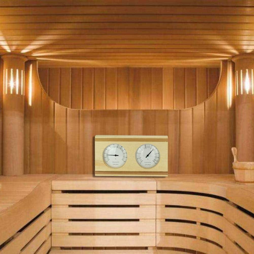 Ljourney Sauna Thermohygrometer Thermometer Holzsauna Thermometer Proficient Hygrometer Kombination I Nachjustierbar I Nebeneinander Angeordnet I In Sch/önem Holzrahmen I Sauna I Saunazubeh/ör