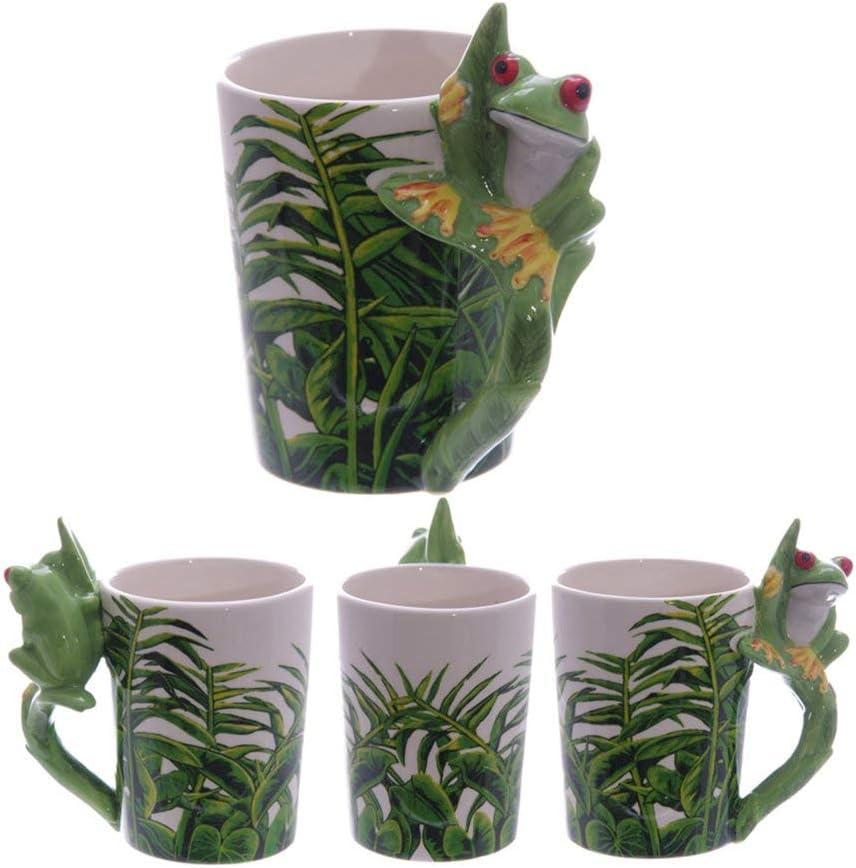 Puckator - Taza con asa en Forma de Rana (cerámica), diseño de Jungla