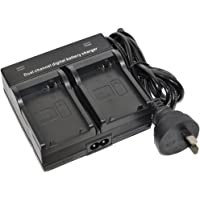 NP-F970 Battery Charger AC Wall Dual for NP-F330 NP-F530 NP-F550 NP-F570 NP-F730 NP-F730H NP-F750 NP-F770 NP-F930 NP-F930/B NP-F950 NP-F950/B NP-F960 NP-F970/B NP-F990 Digital Video Camcorder