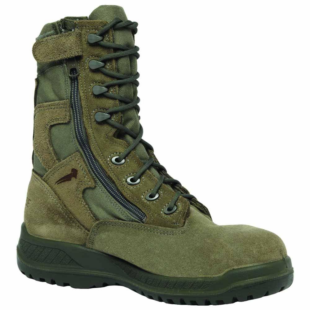 Belleville 610Z Men's Hot Weather Side-Zip B002755CQS Green Olive Leather Boots B002755CQS Side-Zip 065W|Sage Green 350d03