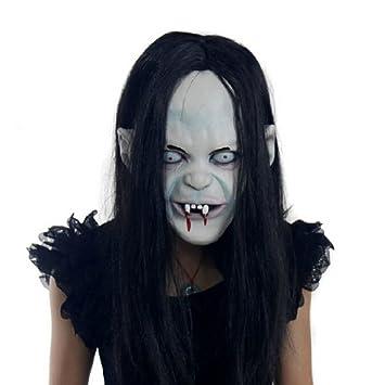 Uniqstore Máscara de Halloween Látex Espeluznante Mascarada de Halloween Horror Máscara de Sombra de Zombie con