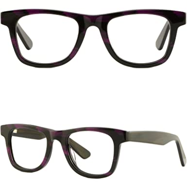 84e0741aee Image Unavailable. Image not available for. Color  Thick Strong Womens Frame  Acetate Prescription Glasses Spring Hinges ...