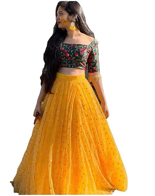 ad1d54415ea09 designer wedding bridal yellow lehenga choli dream exporter 1101:  Amazon.ca: Clothing & Accessories
