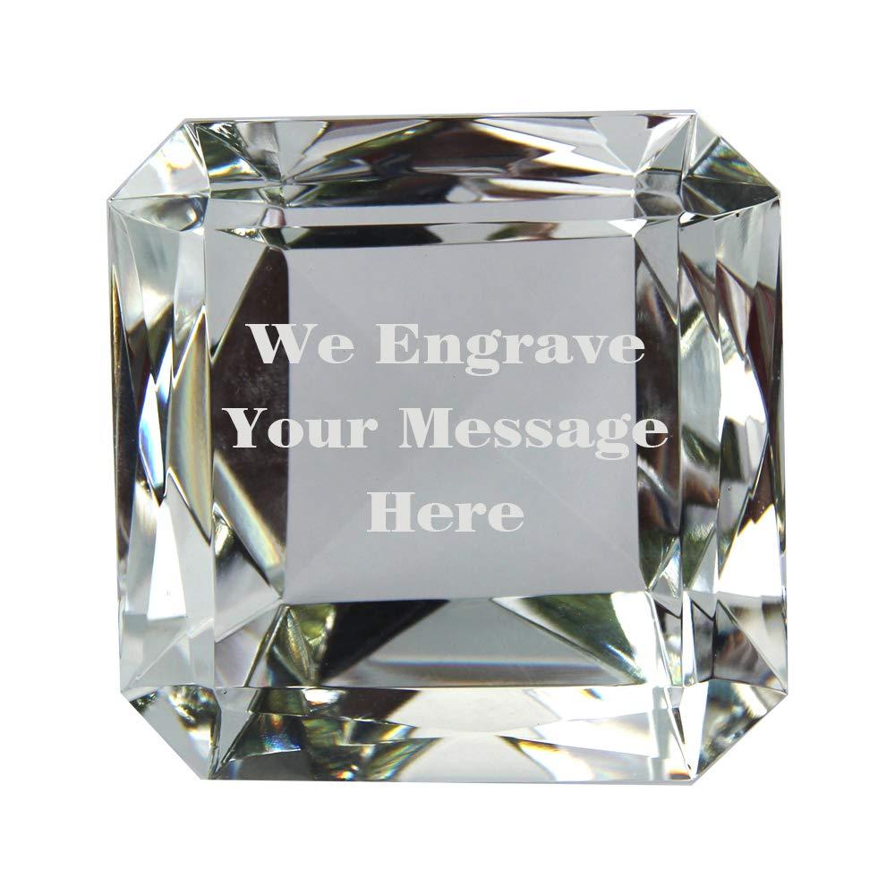 jkk sale Emerald Cut Diamond Paperweight (#80mm) by jkk sale
