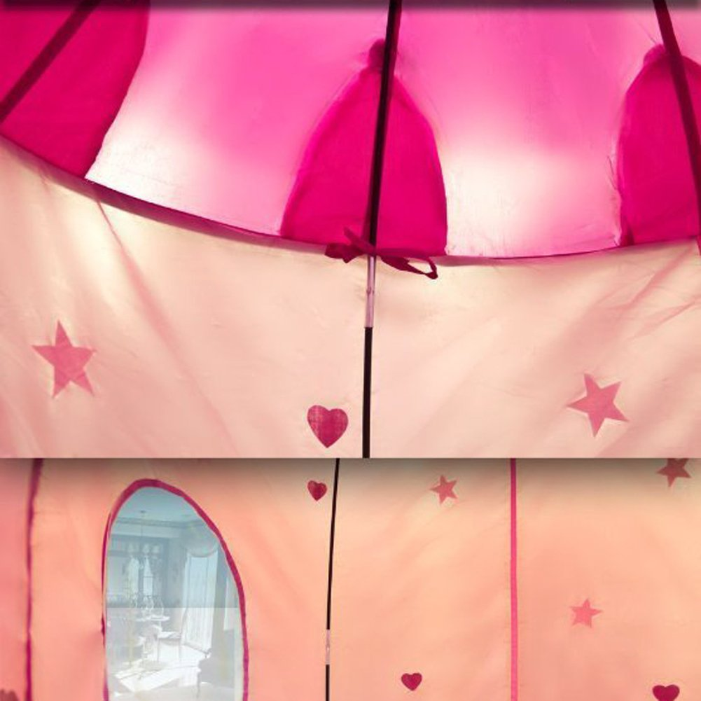 Amazon.com TTnight Portable Pink Pop Up Play Tent Kids Girl Princess Castle Outdoor House (Balls not Included) Toys u0026 Games & Amazon.com: TTnight Portable Pink Pop Up Play Tent Kids Girl ...