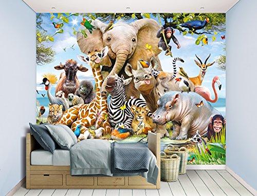 Walltastic WT45255 Jungle Safari Wall Mural, Multicolor