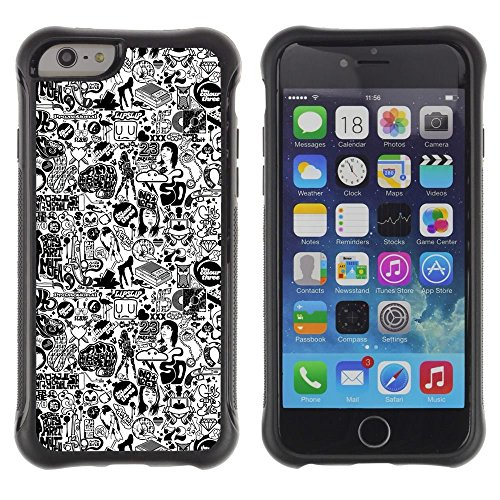 Pulsar iFace Series Soft TPU Skin Bumper Case Cover for Apple iPhone 6+ Plus(5.5 inches) , 1970 Woman Style Fashion Make Up (1970 Makeup)