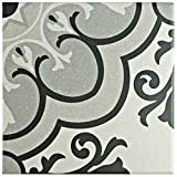 SomerTile FAE6BZS Kallyno Porcelain Floor and Wall Tile, 5.875'' x 5.875'', Solano