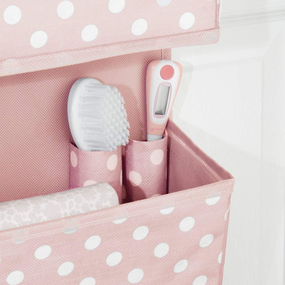 chaussures et accessoires d/'enfants meuble /à suspendre avec design /à pois ros rangement enfant en polypropyl/ène pour v/êtements mDesign penderie en tissu /à 3 paniers fibre synth/étique
