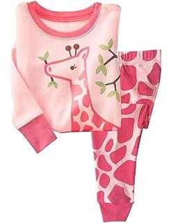 DHASIUE Kids /& Toddler 2 Piece Cotton Pajamas Sets Girls Long Sleeve Pjs Set Children Sleepwear Size 2-7 Years