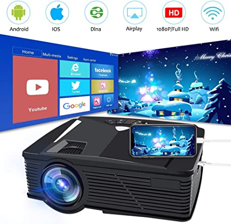 Amazon.com: Mini proyector portátil Full HD, proyector de ...