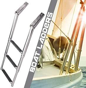 SCXLF Acero-Inoxidable Escaleras para Barcos, 3 Pasos Escalera de Buceo Telescópica, Escalera de Barco de Cubierta de Barco de Yate, Escalera de Embarque de Muelle de Pontón de Servicio Pesado: Amazon.es: Hogar