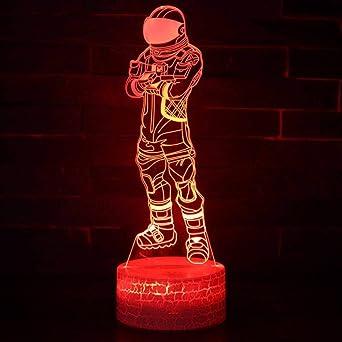 Creative 3D lumière télécommande tactile tactile nuit led