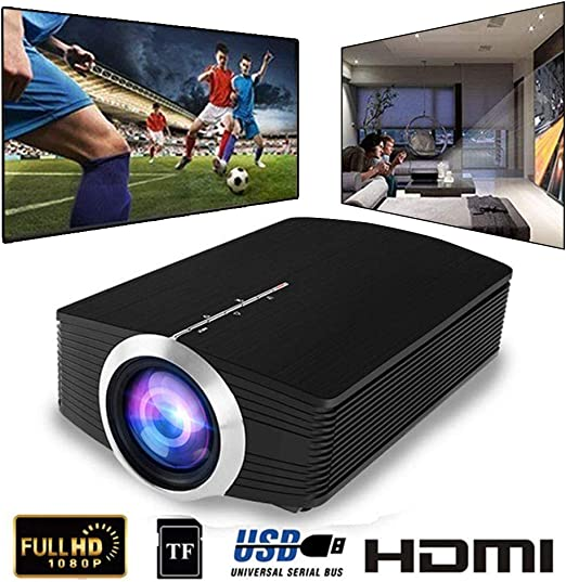 HWUKONG Proyector Mini, support1080P Keystone Correction Home ...