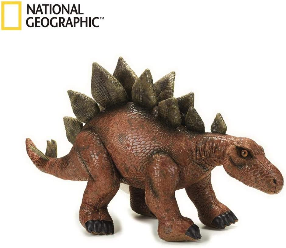 NATIONAL GEOGRAPHIC Big Stegosaurus Lelly Plush Brown