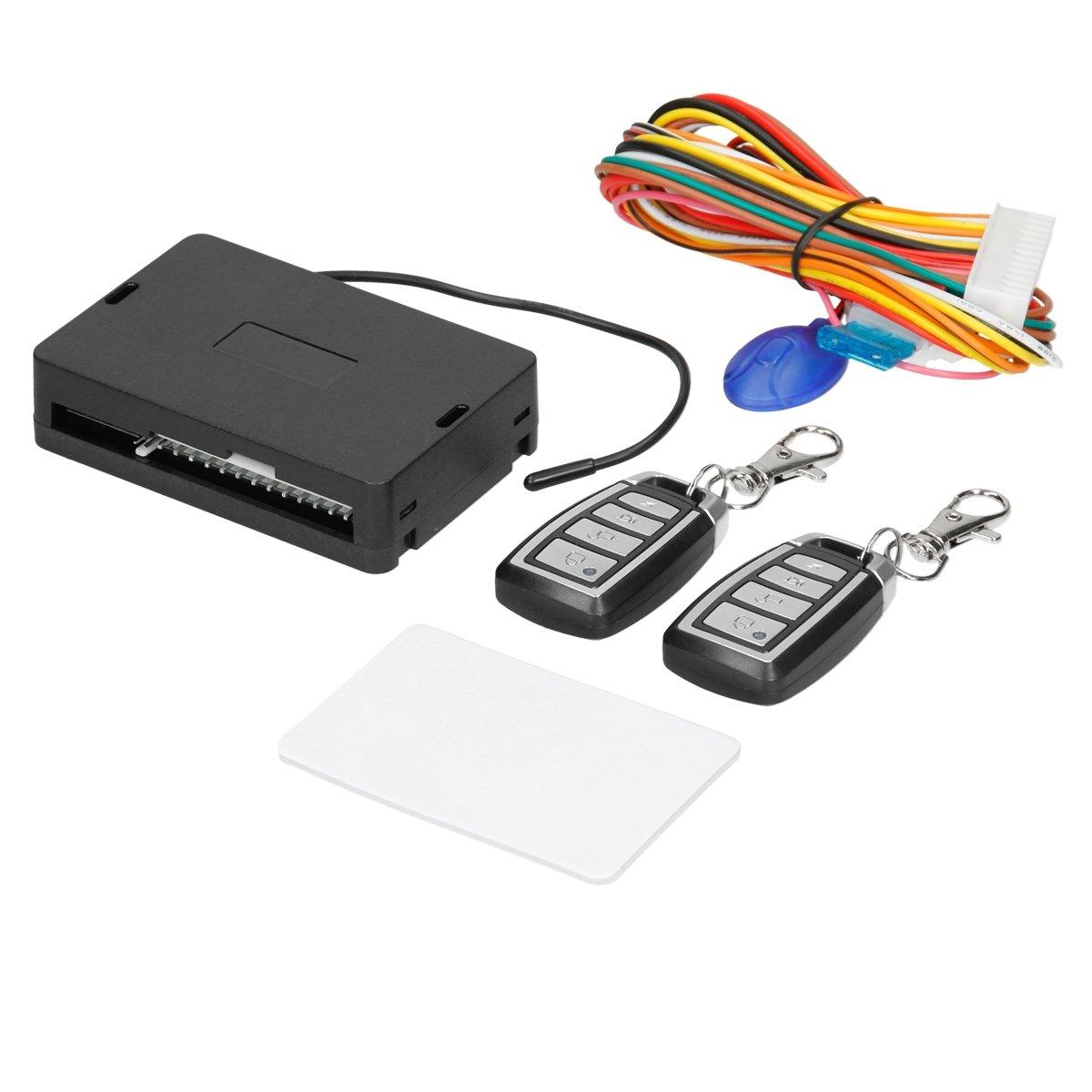 ECD Germany Cierre centralizado universal 2 transmisores de mano deslizantes   Sistema de bloqueo sin llave   transmisor
