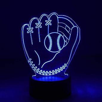 TélécommandeBaseballBaseball Lumière 7 De Illusion D'optique Nuür Avec Led À – Lampe 3d Changement Couleur Nuit TJlFKcu31