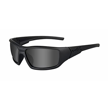 Wiley X Censor Ops Sunglasses, Grey Black, Polarized Smoke Grey