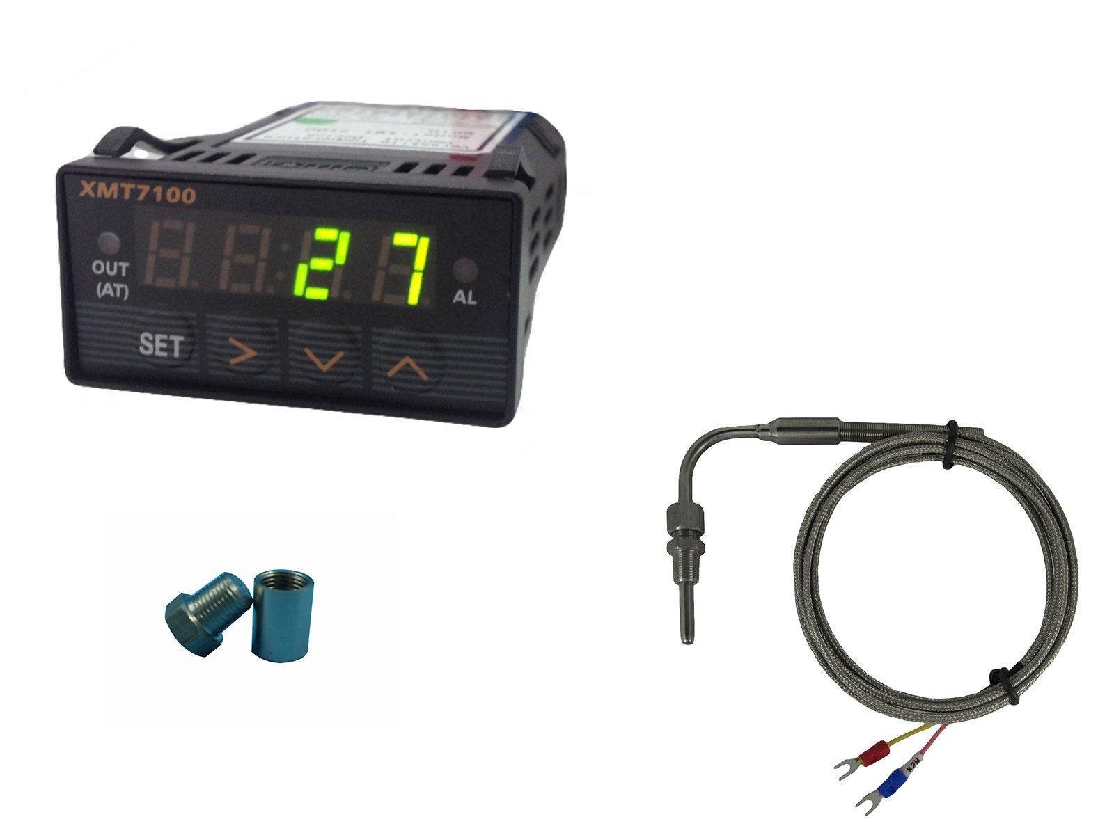EGT Gauge (Green LED) with Exhaust Temperature Sensors and Weld Bund Combo Kit