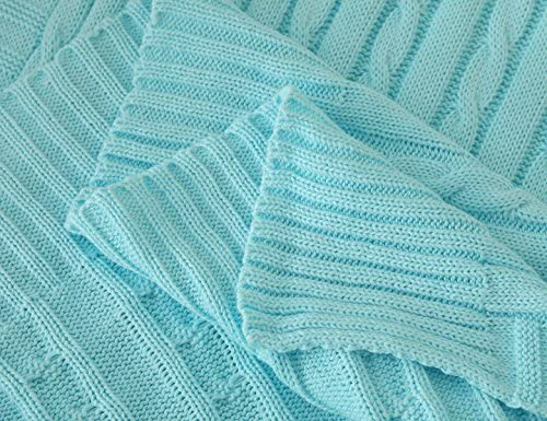 dd58f63ec684 Amazon.com  iSunShine Cotton Knitted Cable Throw Soft Warm Cover ...