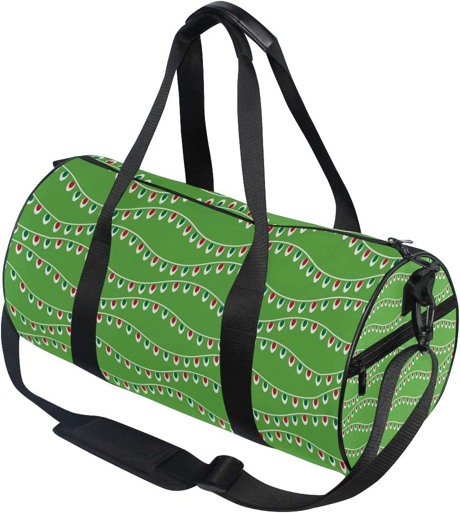 MALPLENA Wave Shape Neon Light Drum gym duffel bag women Travel Bag