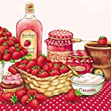Ambiente Serviettes Lunch 33??x 33??cm Party Strawberry Flavor by Ambiente - Luxury Paper Products
