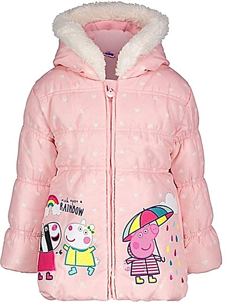 bbe9c2474 Peppa Pig Girls Hooded Coat Pink Hooded Jacket (Age 5-6 Years ...