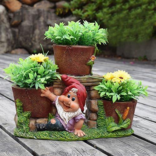 yournelo Cartoon siete enanitos flor maceta macetas suculentas jarrón: Amazon.es: Jardín
