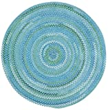 Cheap Capel Rugs Waterway Round Braided Area Rug, 36″, Blue