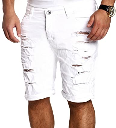 Hombre Verano Vaqueros Cortos Fashion Straight Fit Casual Pantalones Rotos Moda Cintura Media Slim Fit Denim Shorts Pantalones Amazon Es Ropa Y Accesorios