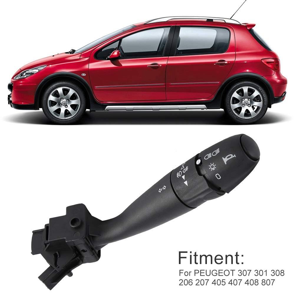 Vobor 96608841XT Interruptor de señal de Giro del automóvil Interruptor del limpiaparabrisas estándar Original para Peugeot ...