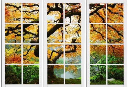 Startonight Canvas Wall Art Maple At Window,..