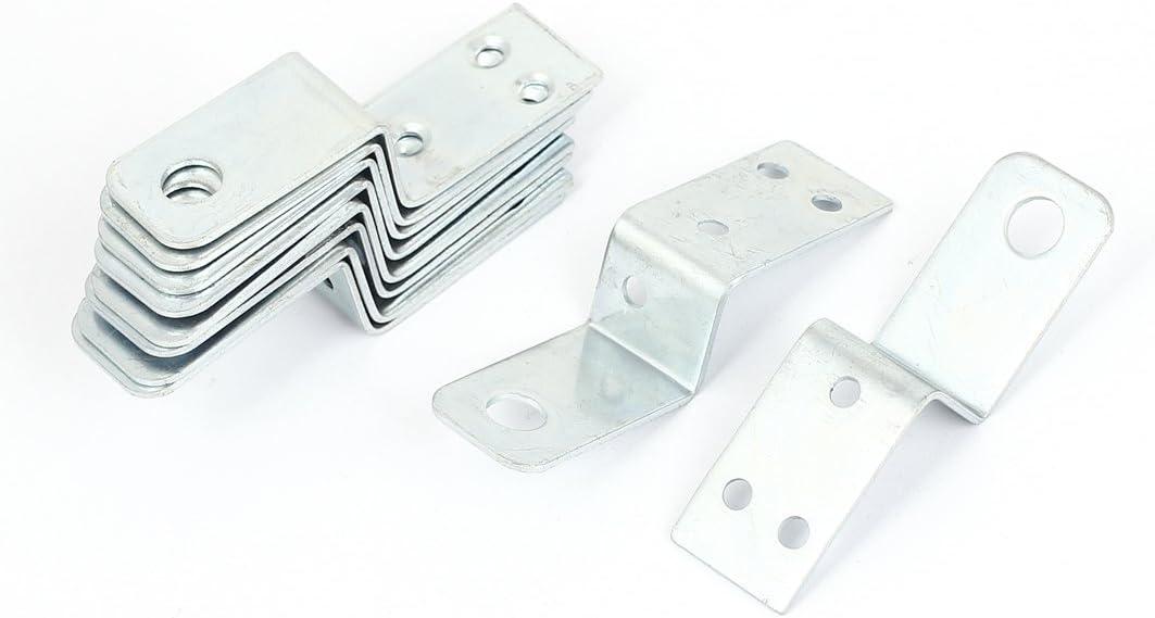 //® 70/mmx18/mm Z Forma estante Corner Brace /Ángulo recto placa 10pcs Sourcingmap/