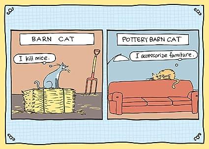 Amazon Tree Free Greetings Pottery Barn Cat Funny Birthday